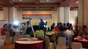 Suasana Table Top Exercise Renkon Banjir DKI Jakarta