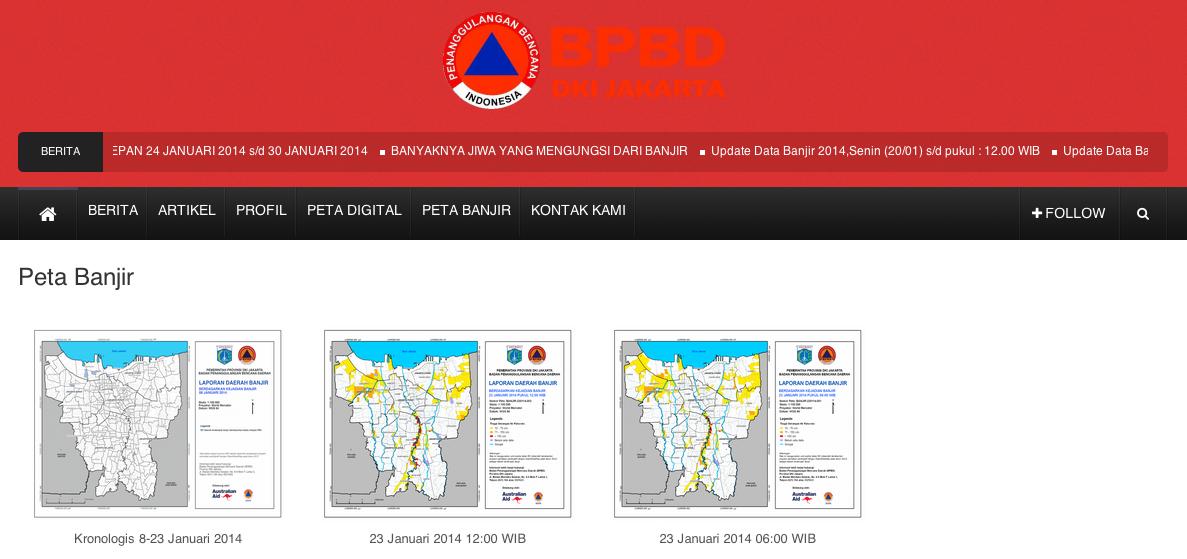 Proses Pemetaan Banjir Jakarta dengan Perangkat Lunak Bebas Terbuka – QGIS 2.0