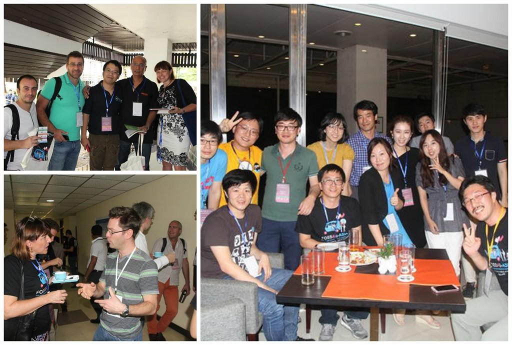 Peserta Berfoto bersama dan Saling Berinteraksi  (Source : FOSS4G Asia Website)