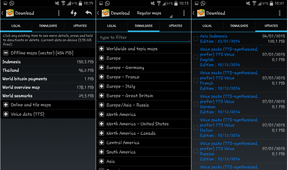 Halaman masing-masing tab pada pengaturan general map