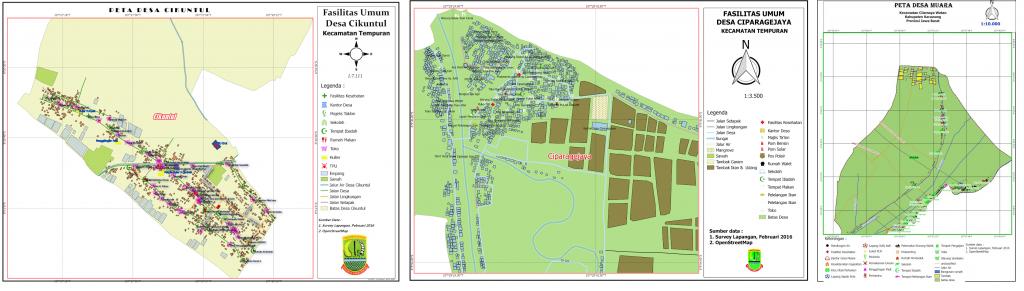 Beberapa contoh hasil peta yang telah dibuat oleh peserta