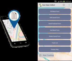 Tampilan halaman utama aplikasi Geo Data Collect. Sumber : Google Play Store